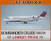 3d model private jet bombardier crj-200