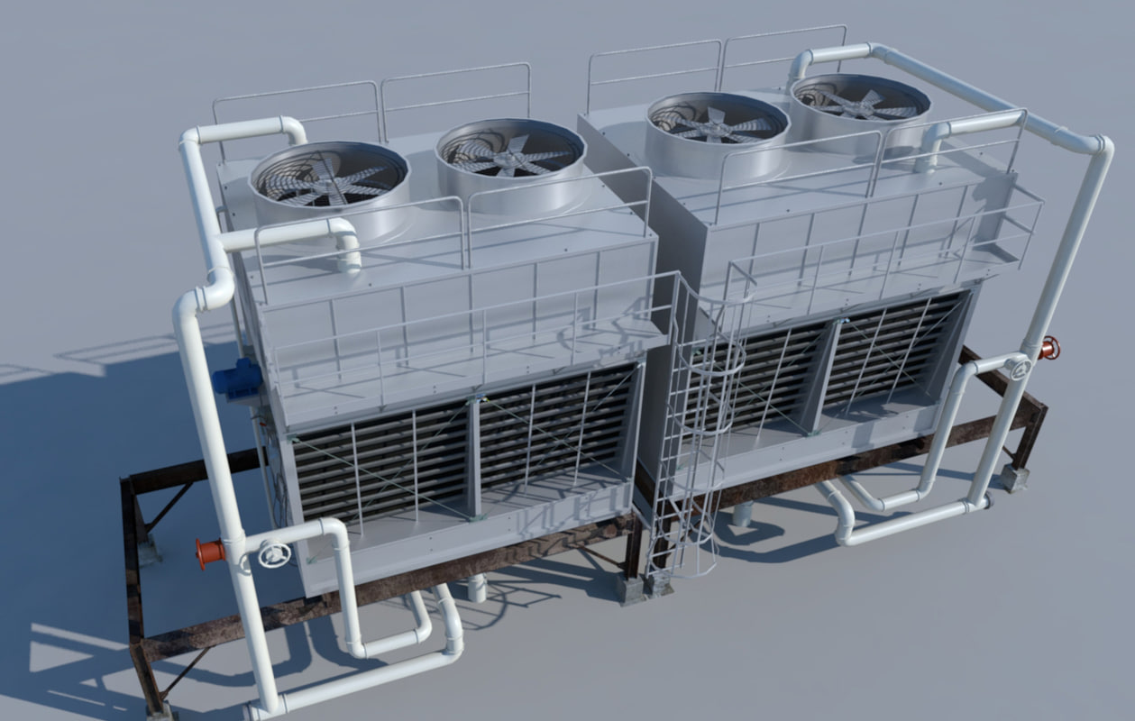 Rooftop Cooling Tower 3d Model