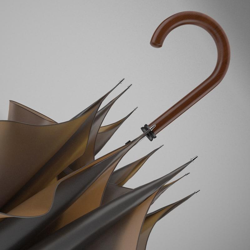 3d model umbrella realistic