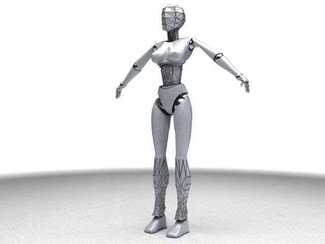 woman cyborg 3d 3ds
