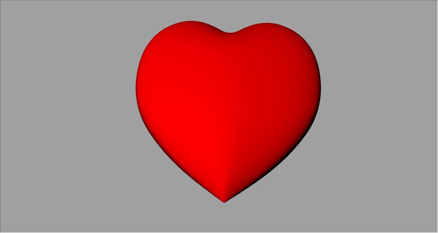 3d model red heart