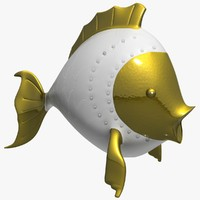 porcelain fish 3d model