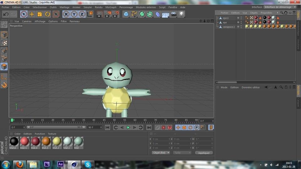 pokemon squirtle 3d c4d
