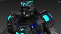 sci-fi armor set 3d model