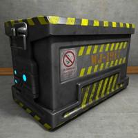 metal crate 3d c4d