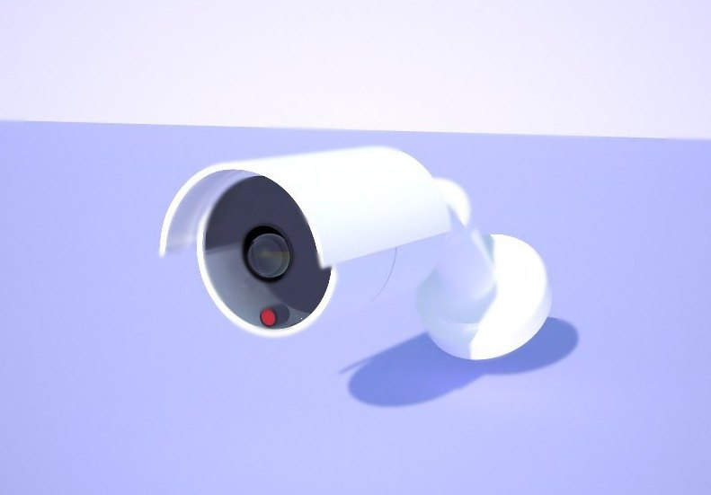 3ds max outdoor cctv camera