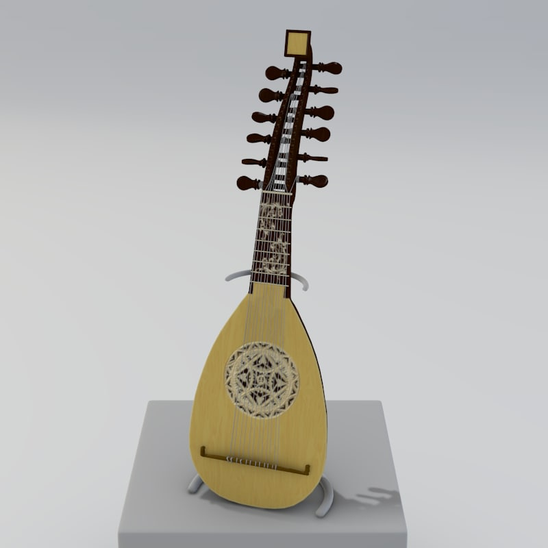 stringed baroque mandolin 3ds