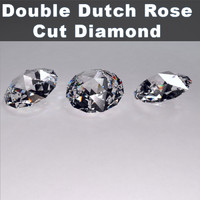 double dutch rose cut diamond 3ds