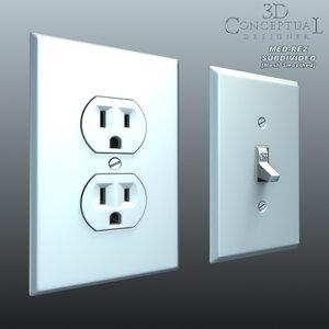 max light switch wall plug