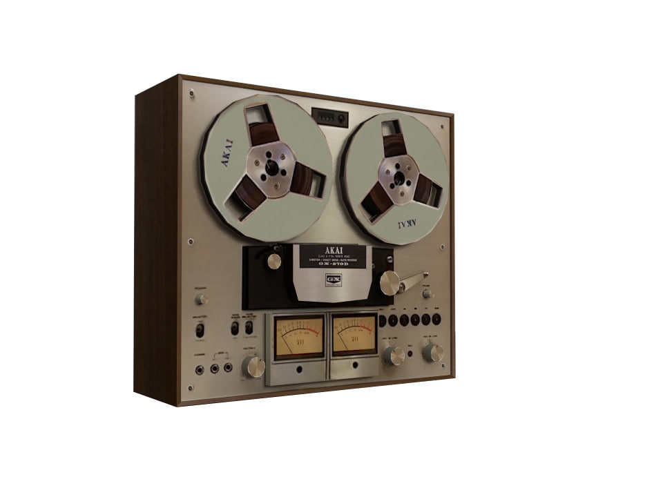 3d model old recorder