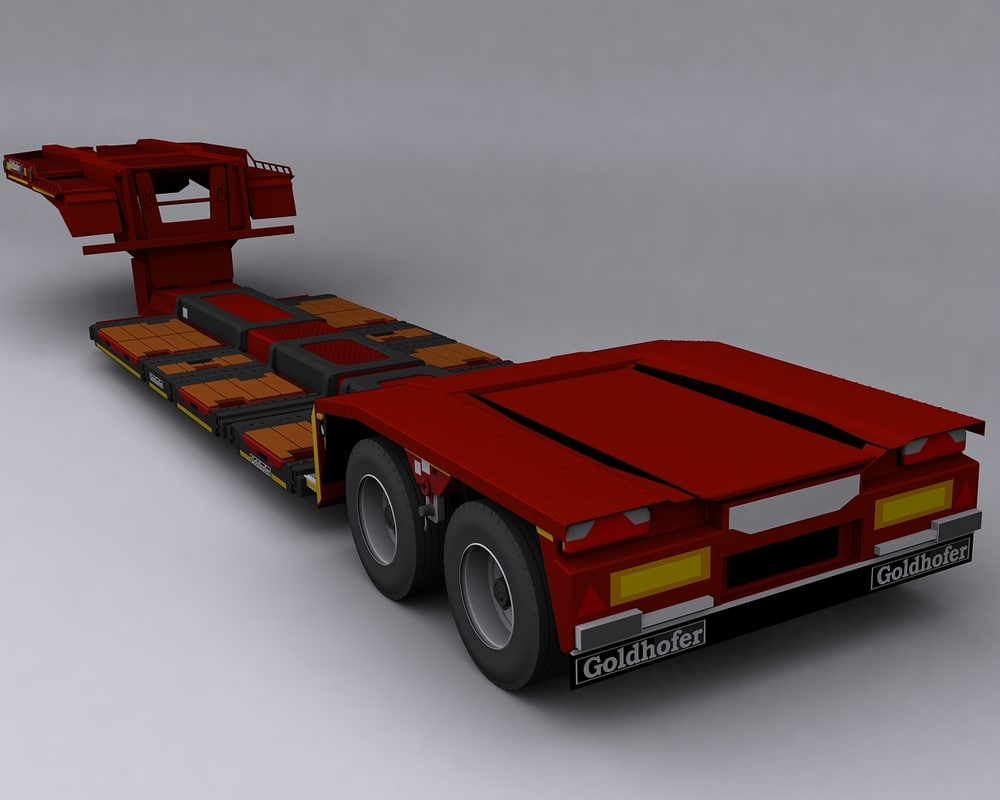 trailer goldhofer 3d max