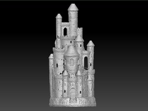 3d model scan smoking castle