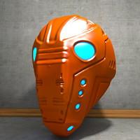 Worn Cyborg Helmet