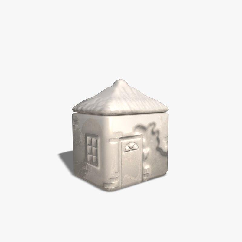 3d house pot model