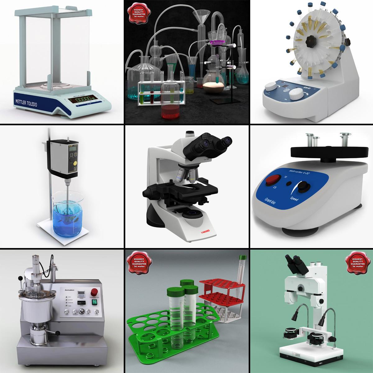 3d model lab equipment v3