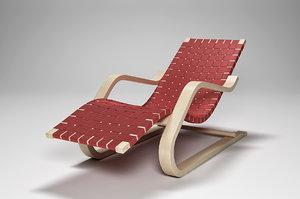 lounge chair 43 3d model