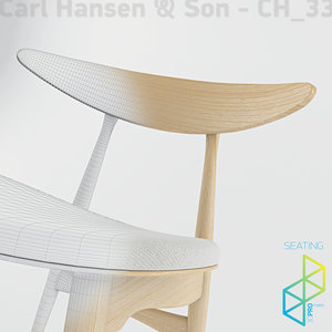 3d dining chair ch33 model
