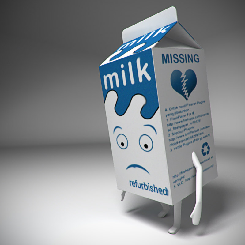 milk box character 3d ma
