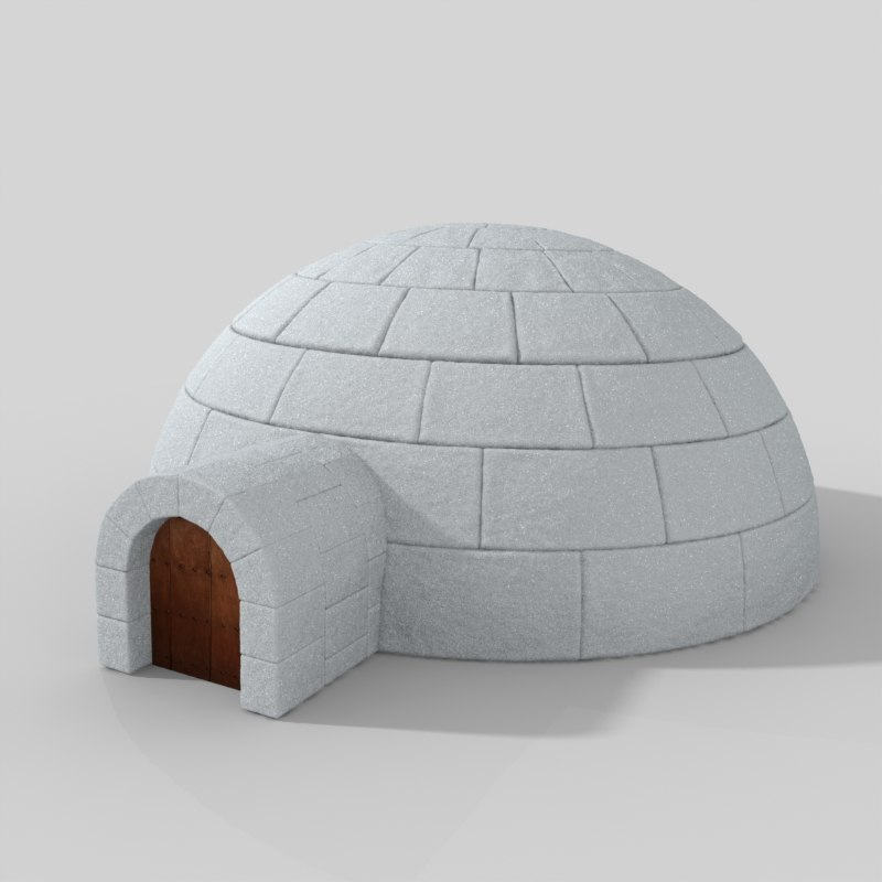 igloo modeled 3d model