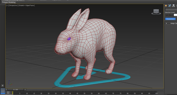 rabbit rig 3d max