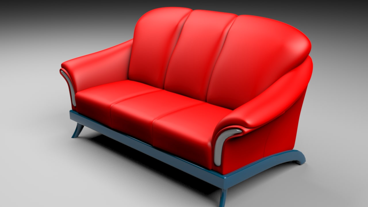 3ds red sofa