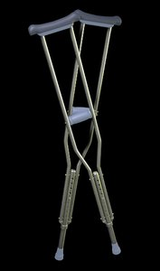 crutches medical 3ds