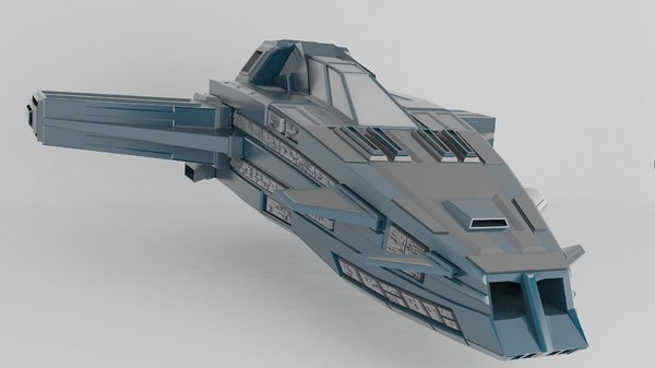 free small fighter spaceship 3d model