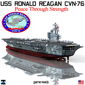 uss ronald reagan cvn-76 3d model