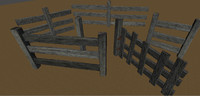 Old Wooden Fence Kit