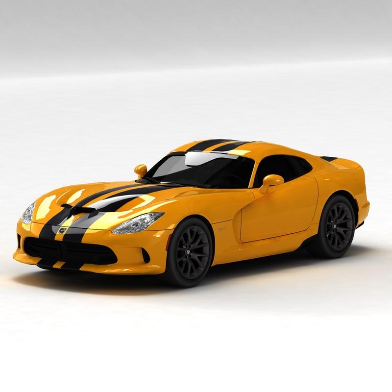3d model dodge viper srt 2013