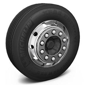 truck wheel 3d model