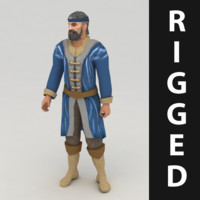 3dsmax worker rigged