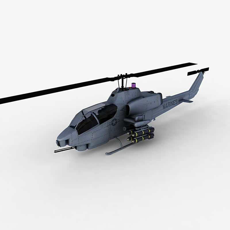 3d model - helicopter