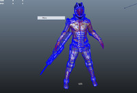 3d sci-fi character