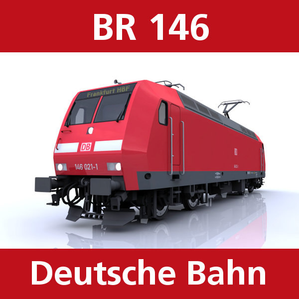 3d model br 146 passenger trains
