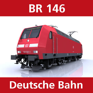 3d model br 146 passenger trains