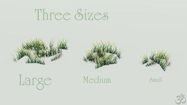 3d low-poly grass model