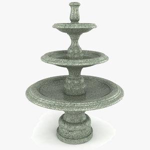 3d model garden fountain