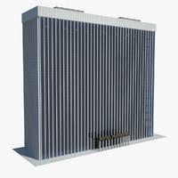 3d skyscraper hotel model