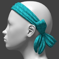 headband with bow back
