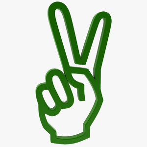 icon hand gesture 3d model