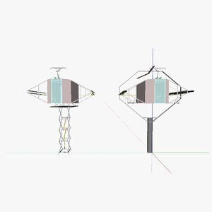 3ds max cable car
