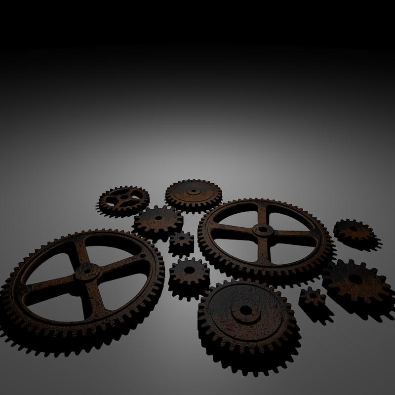 maya gears rusty