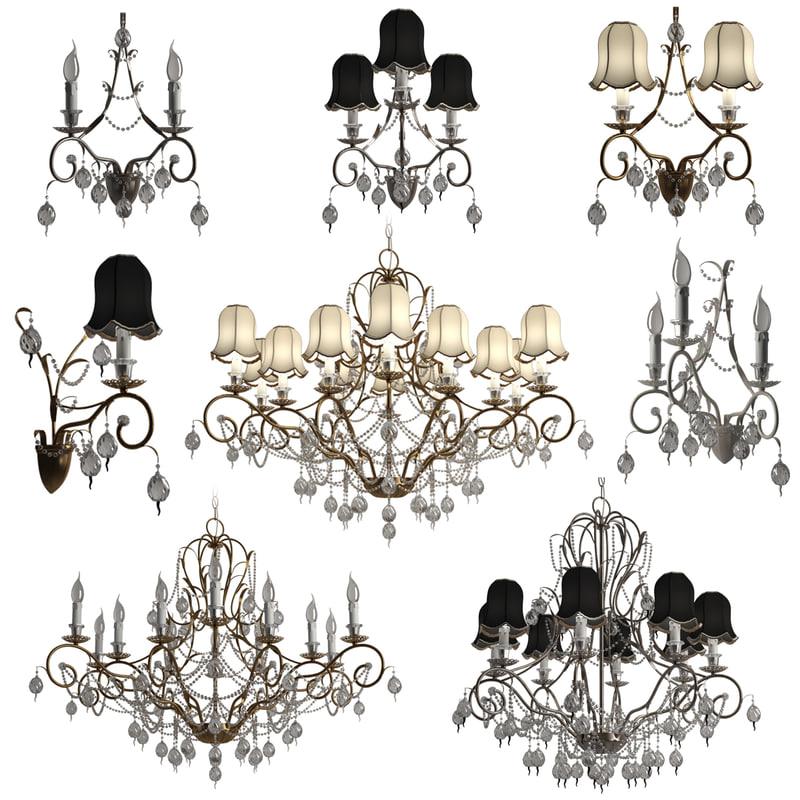 chandeliers stillux talia lamps 3d 3ds