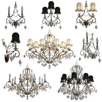 chandeliers stillux talia lamps 3d 3ds