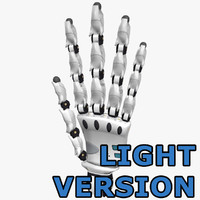 3d model robot hand light version