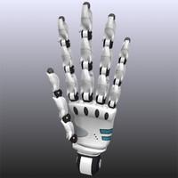 3d model robot hand light version