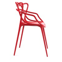 Red Masters Chair by Philippe Stark for Kartell