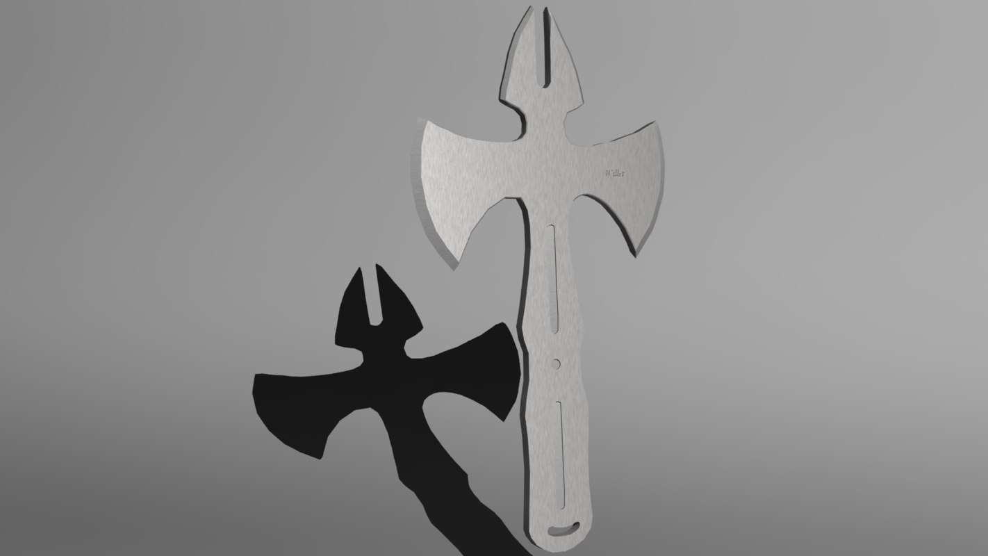 free dual pro thrower axe 3d model
