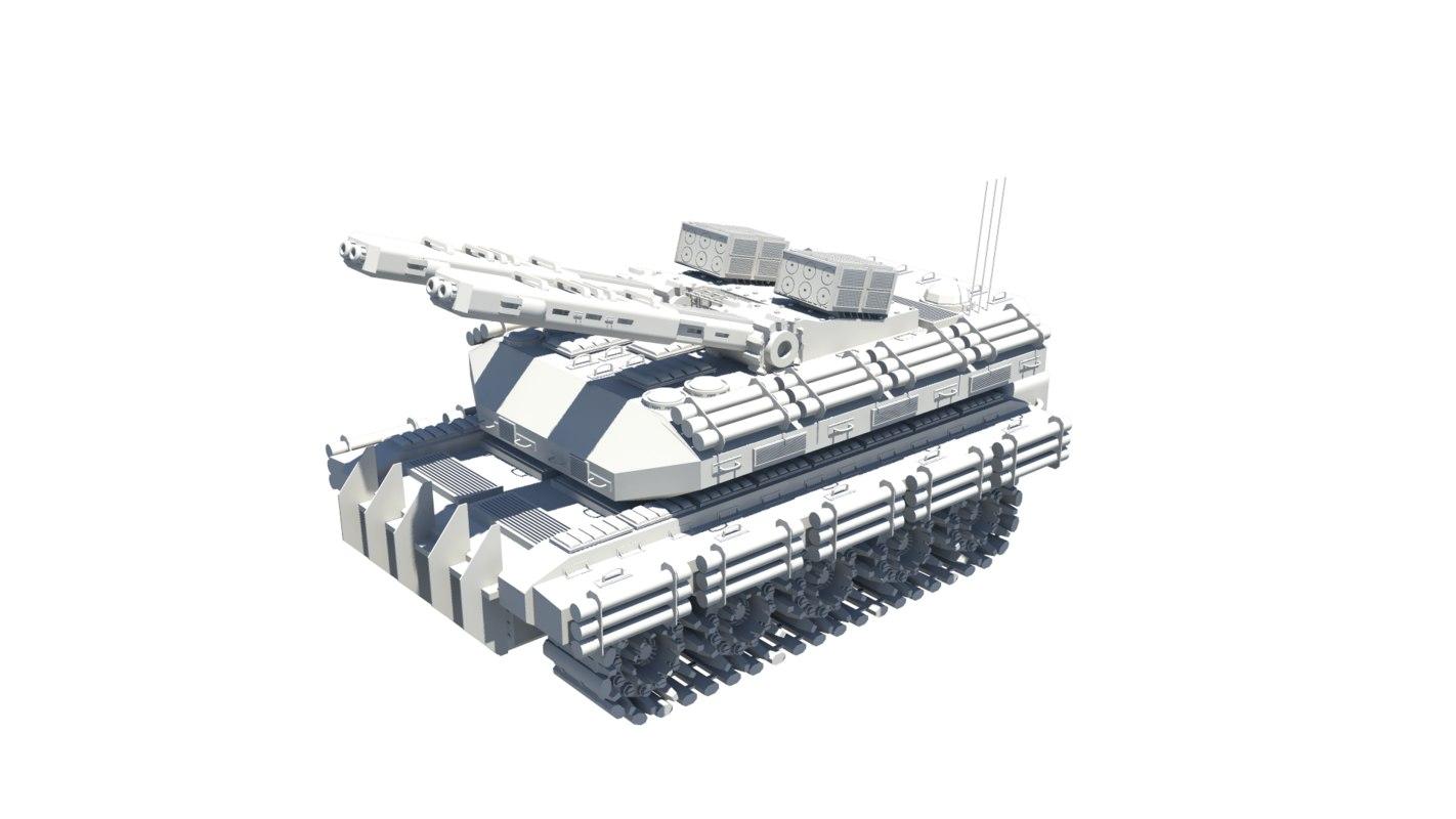 maya futuristic tank